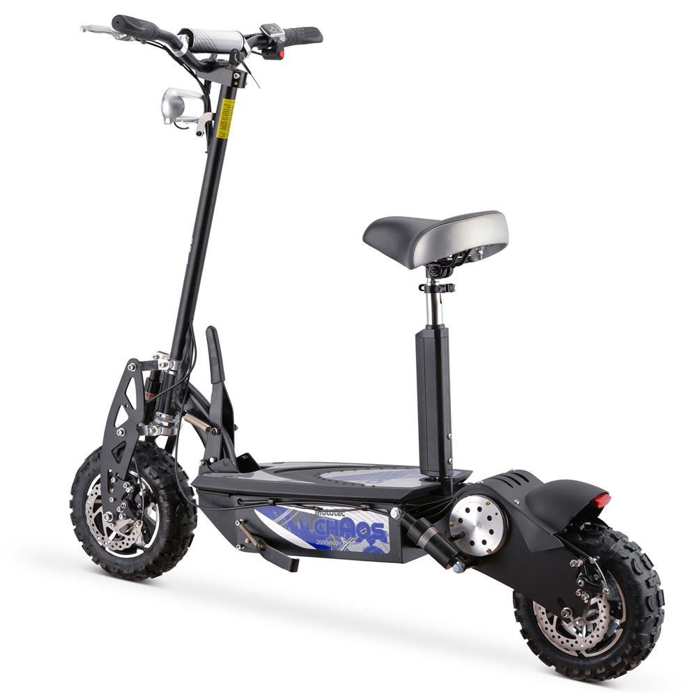 MotoTec Chaos 60V/15Ah 2000W Folding Electric Scooter MT-Chaos_Black