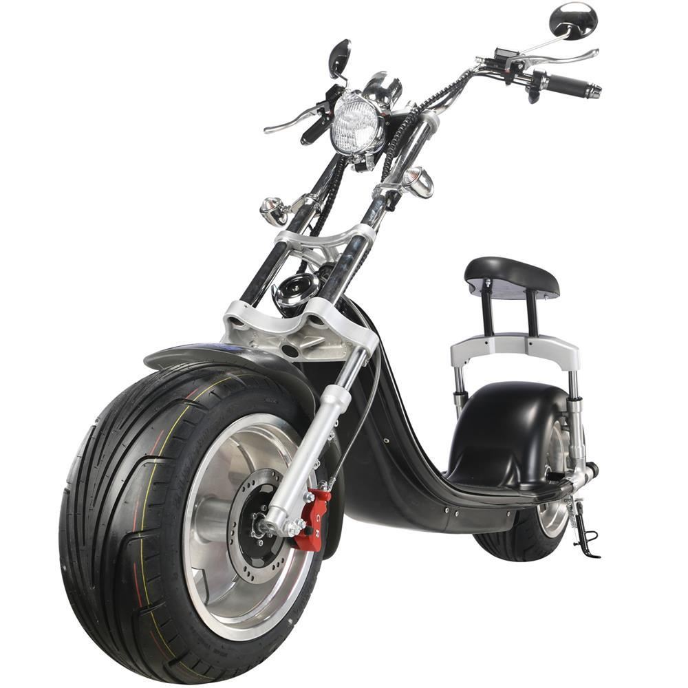 MotoTec Knockout 60V/20Ah 2500W Fat Tire Electric Scooter MT-Knockout-2500_Black