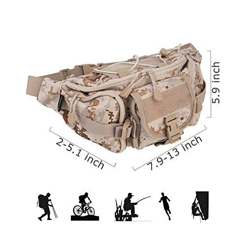 OLEADER Tactical Waist Pack Military Molle Gear Bag Portable Fanny Packs Hip Belt Pouch for Outdoor Camping Hiking Hunting Cycling