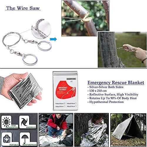 Outdoor Survival Tool Kit with Survival Bracelet