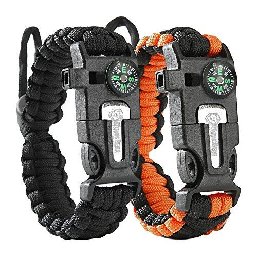 Outdoor Tactical Paracord Bracelet (2PCS)