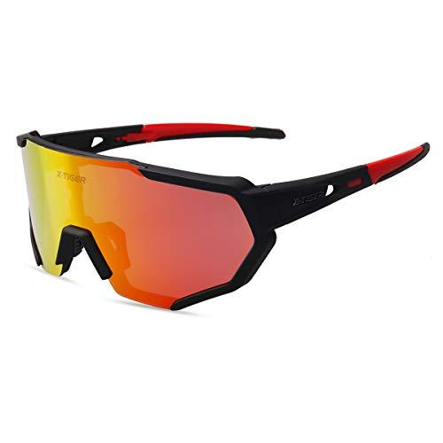 Polarized Cycling Sunglasses with 3 Interchangeable Lenses