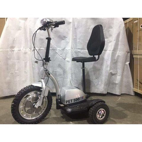 Priority Electric Scooters PET Pro Flex 500W Transportation 3 Wheel Mobility Scooter 99-Z3Z-51252