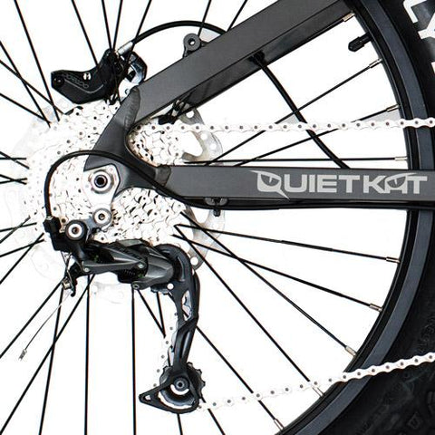 Quietkat 2020 Jeep 750W Full Suspension Electric Mountain Bikes 20JEEP75BLK19