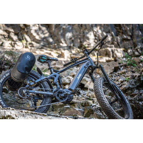 Quietkat 2020 Jeep 750W Heavy Duty Full Suspension Mountain Bikes 20JEEP75BLK19