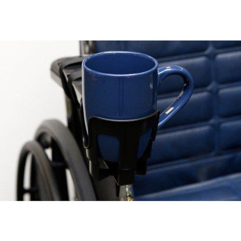 "The""Nearly"" Universal OH - Wheelchair Cup Holder"