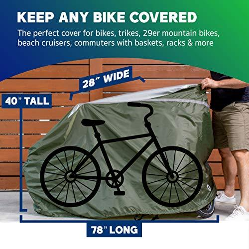 YardStash Waterproof Bike Cover Outdoor Bicycle Cover for Waterproof Bike Storage Cover Mountain Bike Electric Bike Cover Tricycles Mini Bike Dirt Bike Cover Multiple Bikes Waterproof Scooter Storage