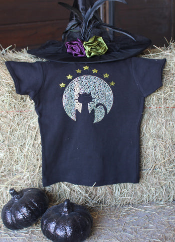 Black Cat Moon T-Shirt