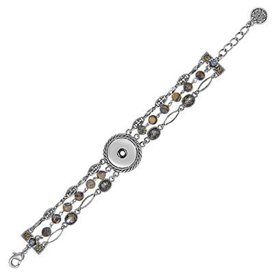 1-Snap Gemstone Bracelet - Morning Mist