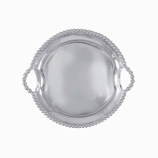 Pearled Round Handle Tray