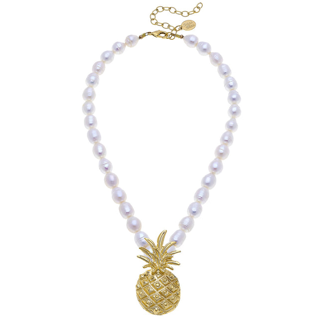 Large Gold Pineapple Necklace
