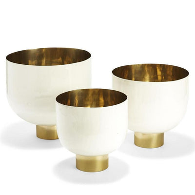 Decorative White Bowls w/Gold
