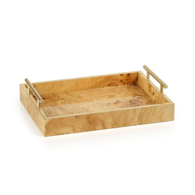 Leiden Burl Wood Tray