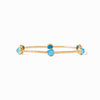 Milano Luxe Gold Bangle - Pacific Blue
