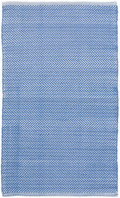 Herringbone French Blue & White Indoor/ Outdoor Rug