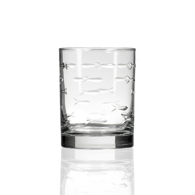 School of Fish Double Old Fashioned 14oz | Rolf Glass