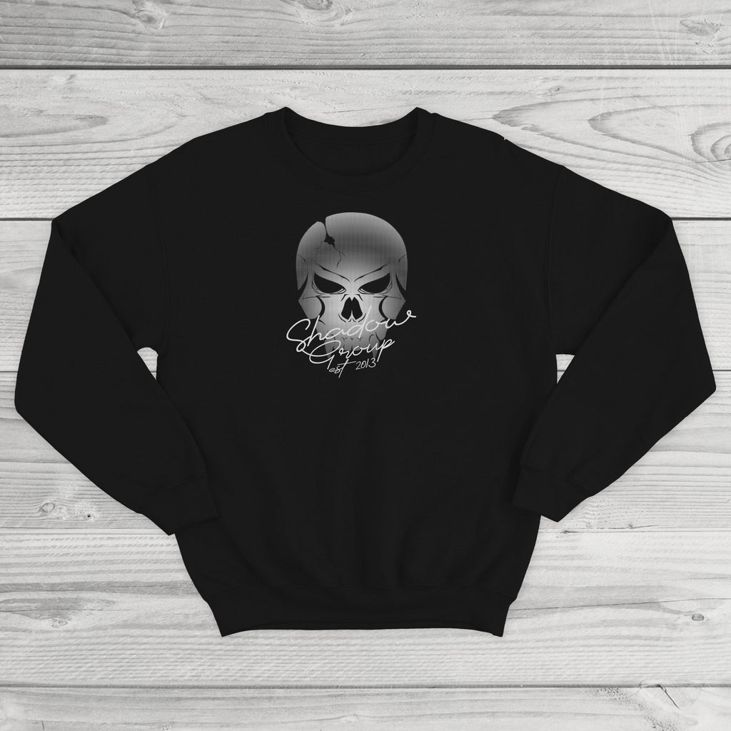 Faded Skull Logo Crewneck Sweatshirt