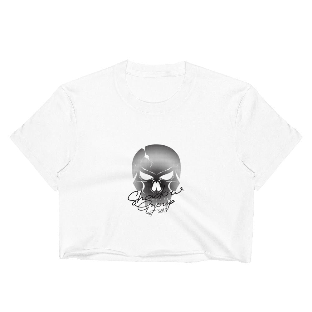 SHADOW GROUP FADED SKULL CROP TOP