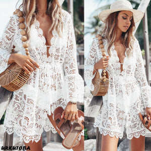 Floral Lace Crochet Cover Up