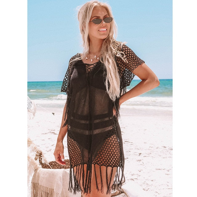 Knitted Kimono Swimsuit Cover Up