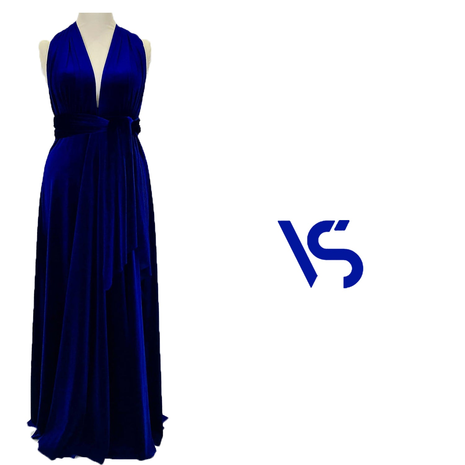 Royal blue velvet dress, multiway dress, infinity dress, bridesmaid dress, prom dress, evening dress, convertible dress, party dress