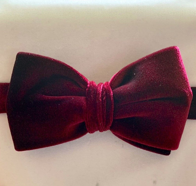 Bow tie, groomsmen tie, velvet bow tie, wedding ties