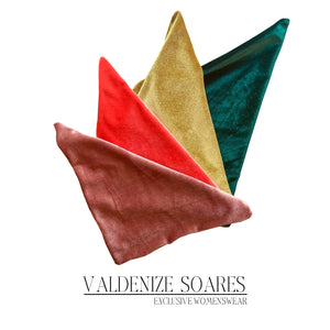 Pocket squares in velvet colours to match my dresses