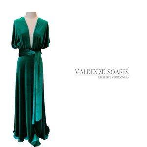 Emerald Green dress, infinity dress, bridesmaid dress, prom dress, ball gown, long dress, multiway dress, convertible dress, party dress