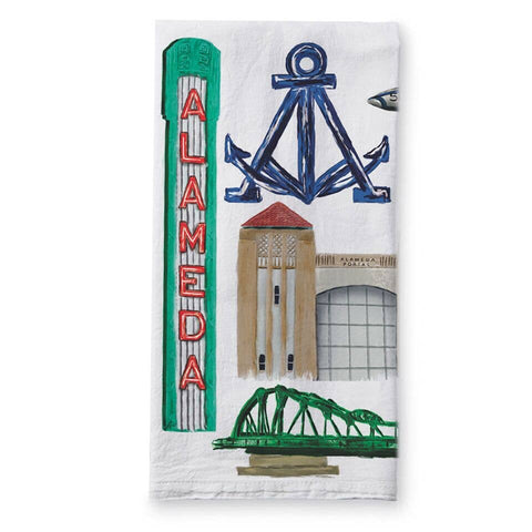 Alameda Collage Tea Towel