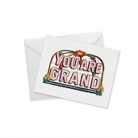 YOU ARE GRAND Oakland Notecard