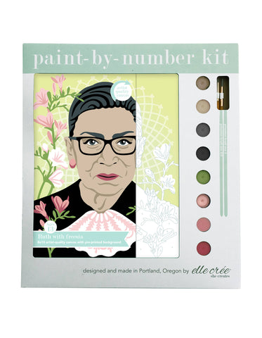 Ruth Bader Ginsburg, RBG, Paint-by-Number Kit