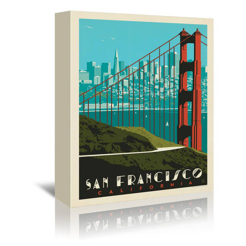San Francisco Golden Gate Bridge Skyline' Graphic Art Canvas