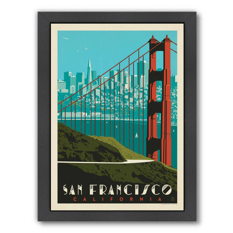 San Francisco Golden Gate Bridge Skyline' Graphic Art Print