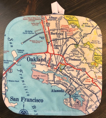 Oakland Map Hot Pad/Pot Holder