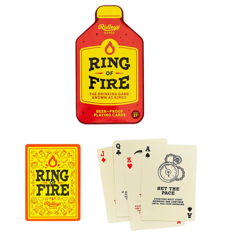 Ring of Fire Drinking Game Playing Cards