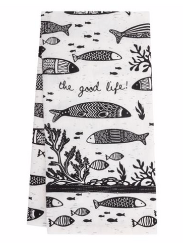 Boho Fish Tea Towel
