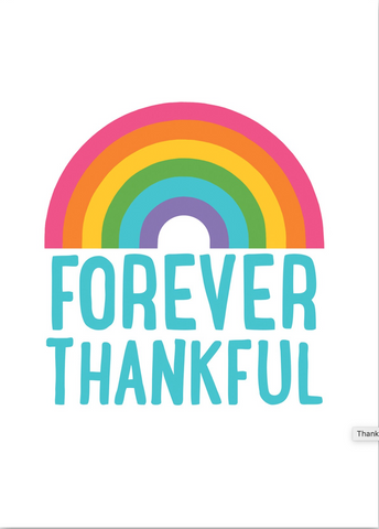 Rainbow Thankful Card
