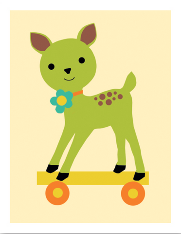 Deer Pull Toy Card