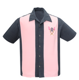 Tropical Itch Shirt in Charcoal/Pink