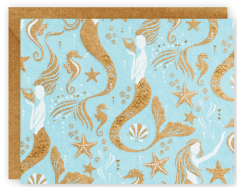 Mermaid Note Cards with Envelopes, Set of 10