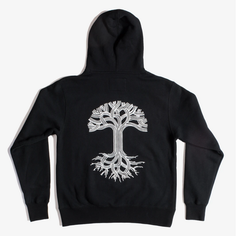 Oaklandish Hoodie, Black with White Ink