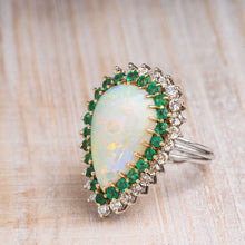 Load image into Gallery viewer, Opal and Diamond Cocktail Ring