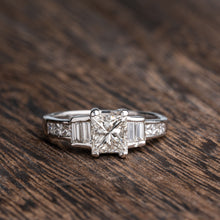 Load image into Gallery viewer, Beautiful Princess Cut Diamond Engagement Ring