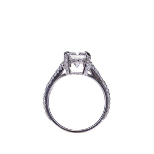 1.57 Radiant Cut Diamond Split Shank Engagement Ring