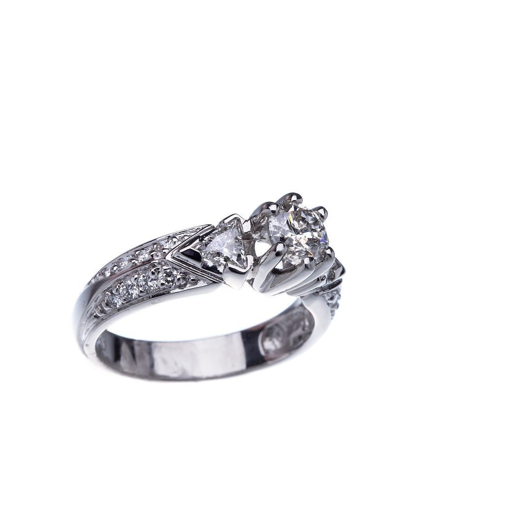 Over 3/4 Carat Diamond Engagement Ring Platinum