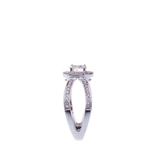 Load image into Gallery viewer, Halo Split Shank Engagement Ring