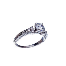 Load image into Gallery viewer, Over 1Ct Diamond Vintage Inspired Engagement Ring