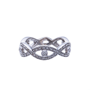 Infinity Diamond Fashion Ring or Wedding Band