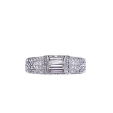 Load image into Gallery viewer, 18Kt White Gold Stunning Baguette Engagement Ring