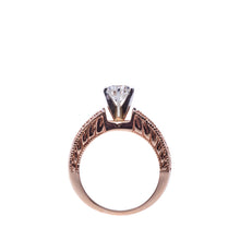 Load image into Gallery viewer, 0.89Ct Certified Diamond Rose Gold Engagement Ring